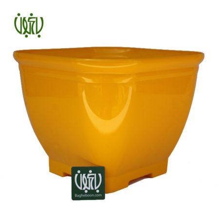 گلدان پلاستیکی مربع  گلدان پلاستیکی کلاسیک مدل 1030 flower pot plastic colored 1030 1 450x450