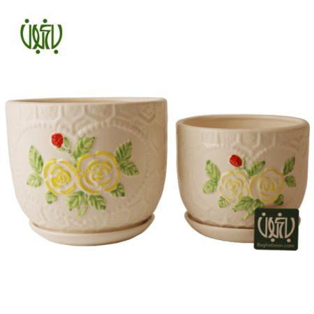 گلدان سفالی  گلدان سفالی مدل 40-14 Ceramic Vase Model 14 40 1 450x450