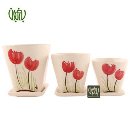 گلدان سفالی  گلدان سفالی مدل 15-50 Ceramic Vase Model 50 15 1 450x450