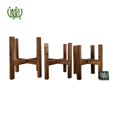 پایه گلدان چوبی